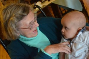 Great grandmother and baby