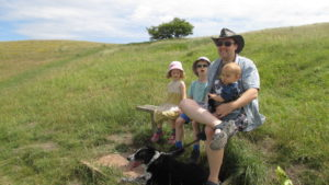 Family time, out and about with our dog Ollie