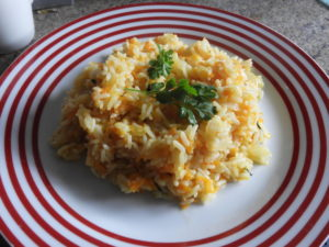 carrot and coriander rice
