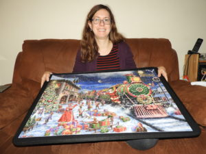 Me wiih my completed puzzle