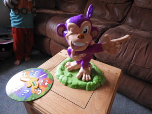 Pull My Finger monkey set up ready for play
