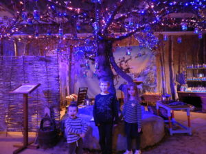 Children under the wishing tree at LaplandUK