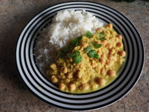 Chickpea and lentil dhal