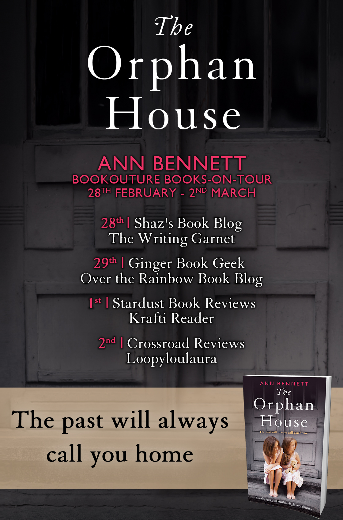 The Orphan House book tour banner