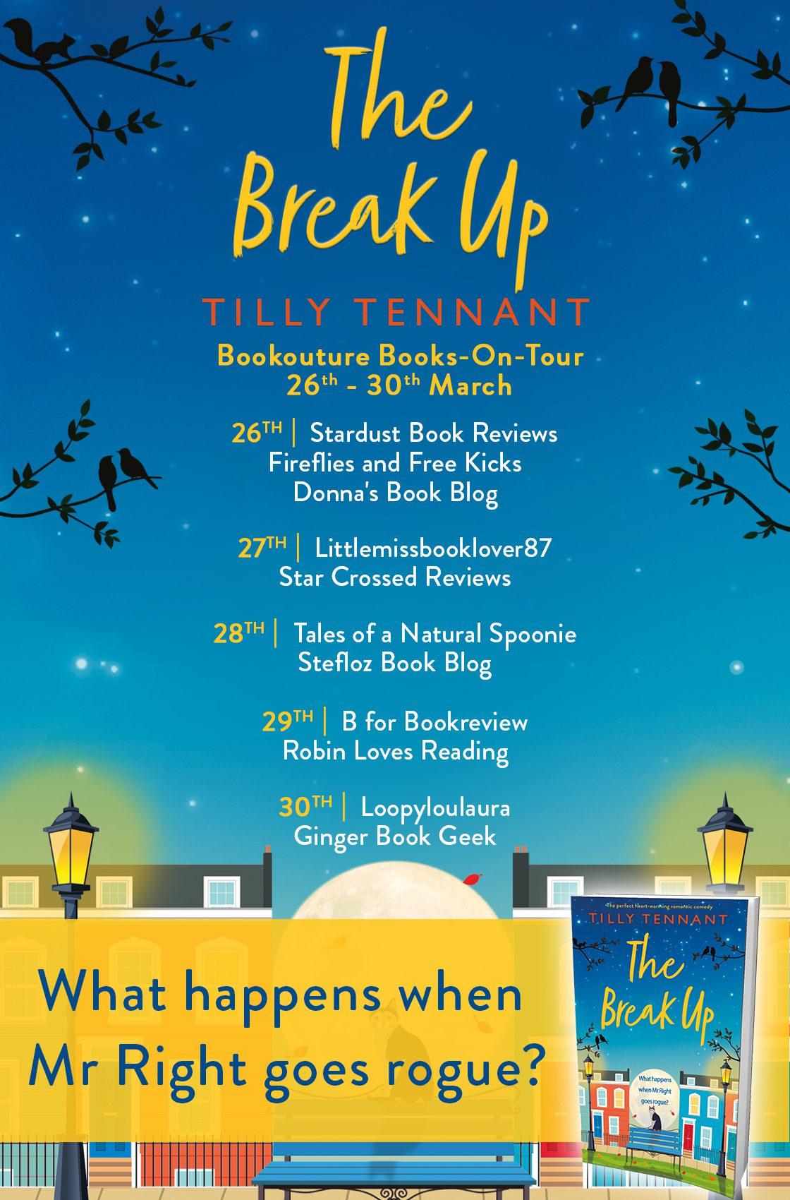 The Break Up blog tour banner