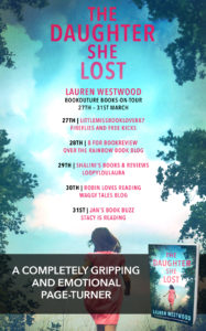 The Daughter She Lost book tour banner