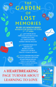 The Garden of Lost Memories book tour banner