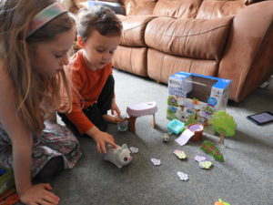 children playing with set