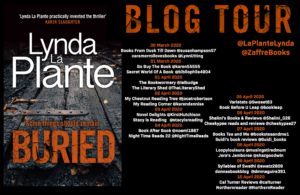 Buried book tour banner