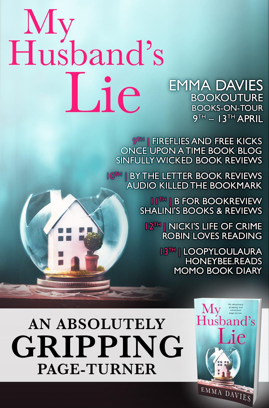 My Husband's Lie blog tour banner