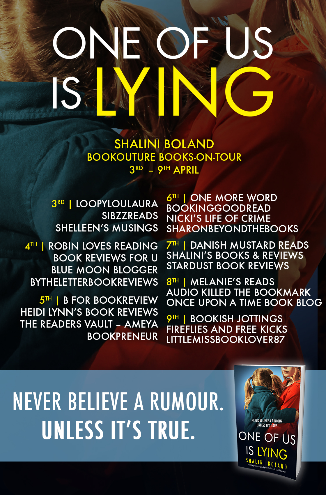 One of Us is Lying blog tour banner