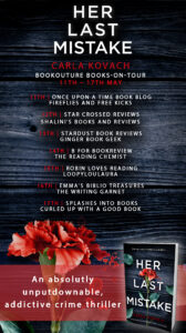 Her Last Mistake book tour banner