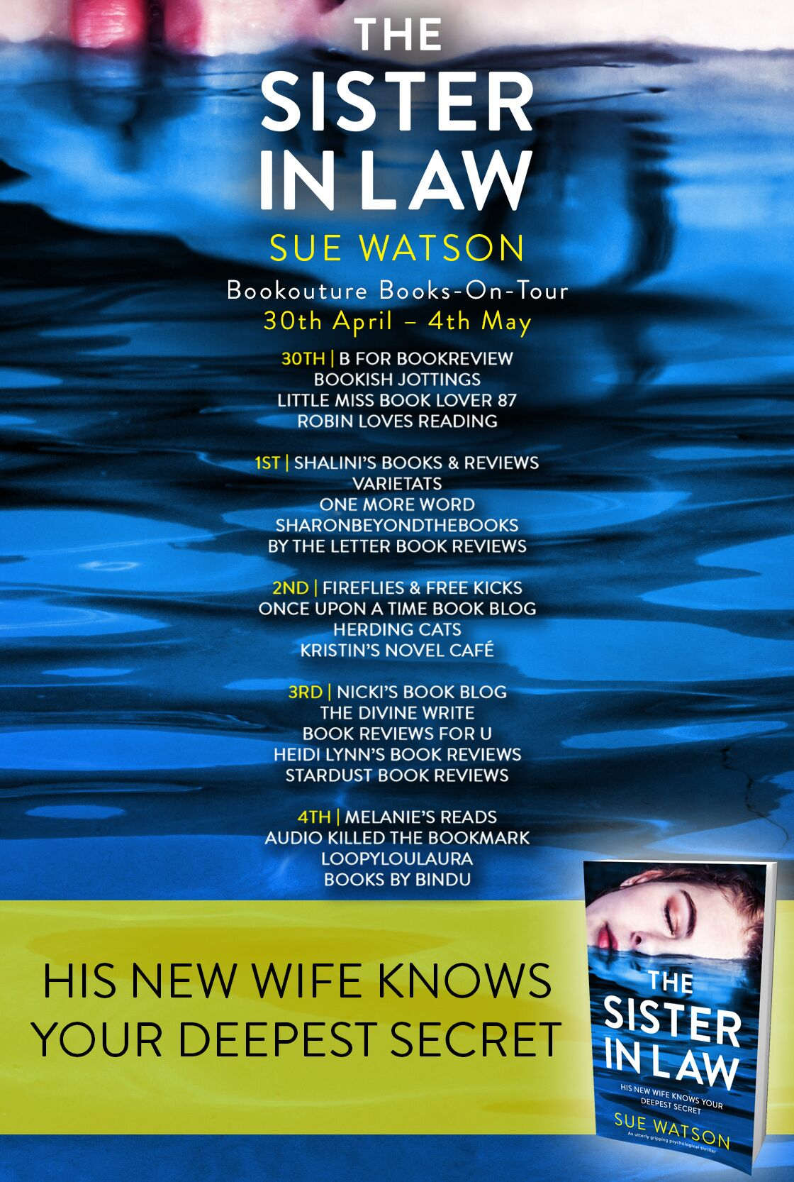 The Sister in Law book tour banner