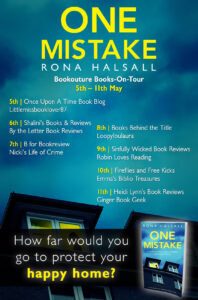One Mistake book tour banner