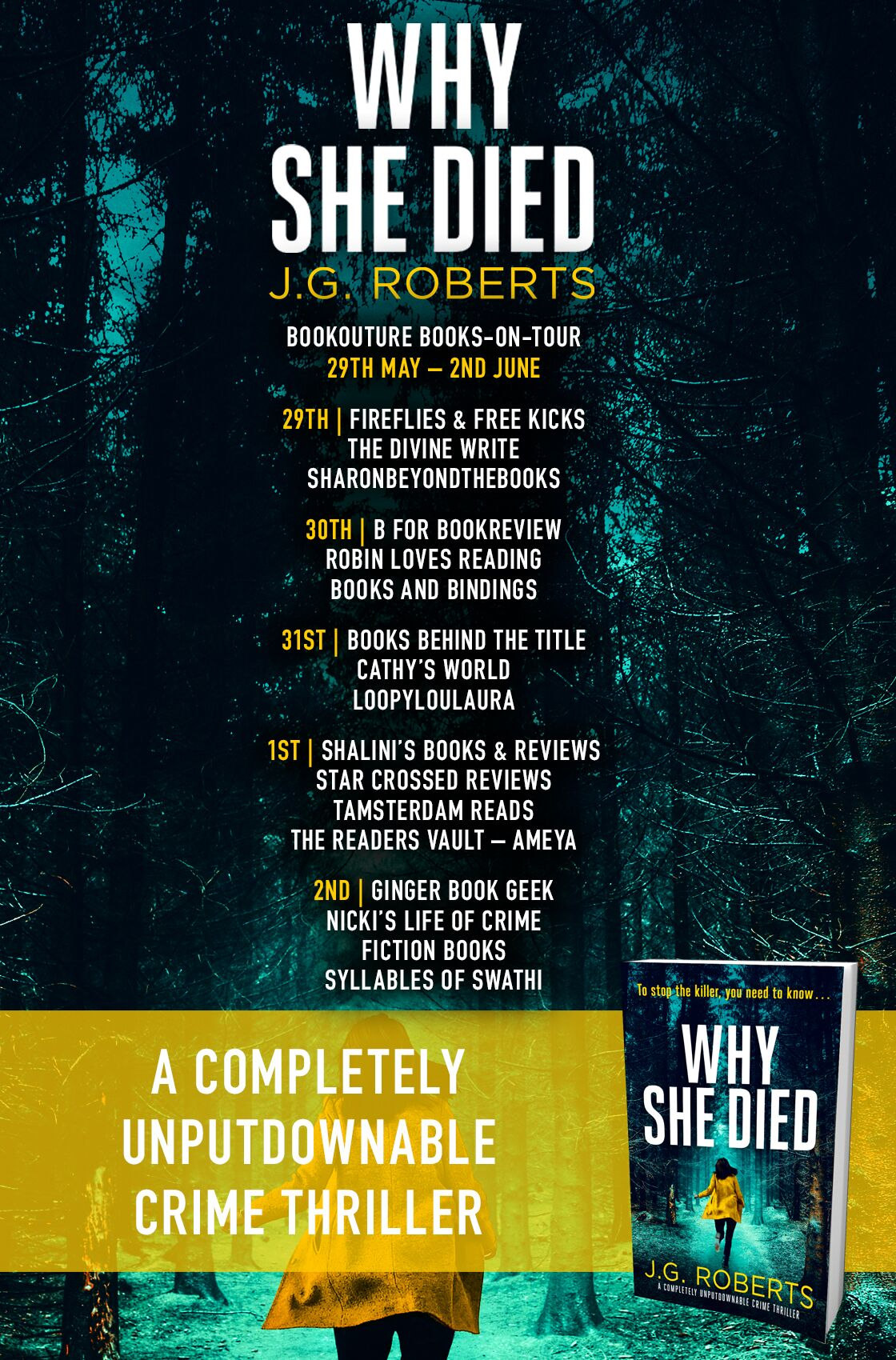 Why She Died blog tour banner