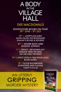 A Body in the Village Hall blog tour banner