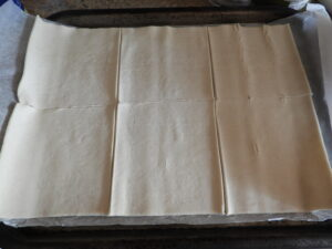 unrolled pastry