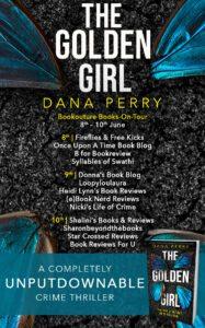 The Golden Girl blog tour banner