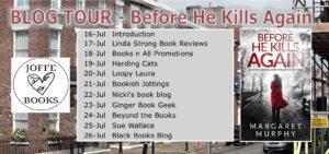 Before He Kills Again blog tour banner