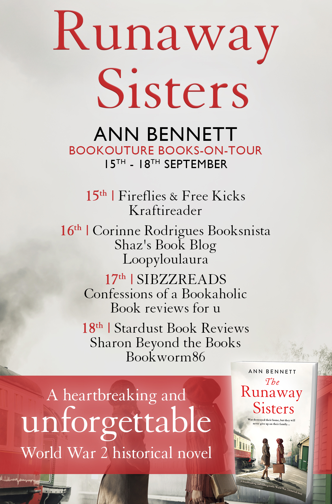 The Runaway Sisters blog tour banner