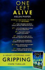 One Left Alive blog tour banner