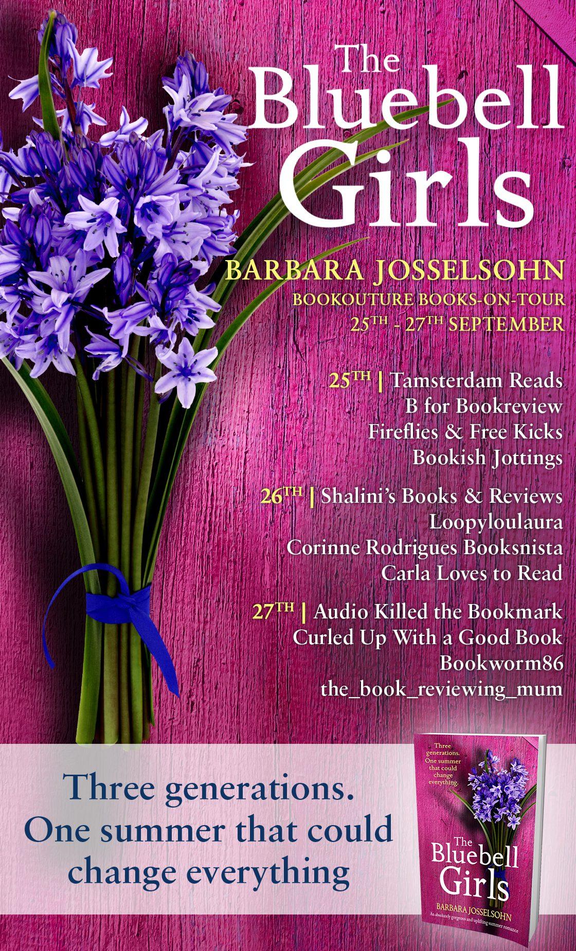 The Bluebell Girls blog tour banner