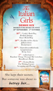 The Italian Girls blog tour banner