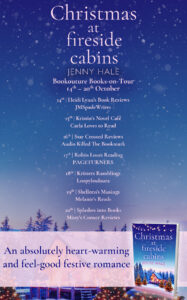 Christmas at Fireside Cabins blog tour banner