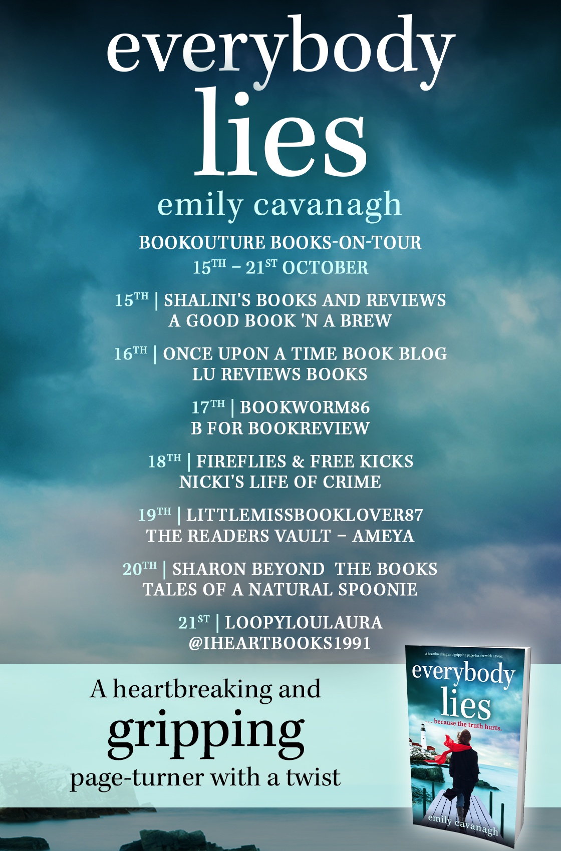 Everybody Lies blog tour banner