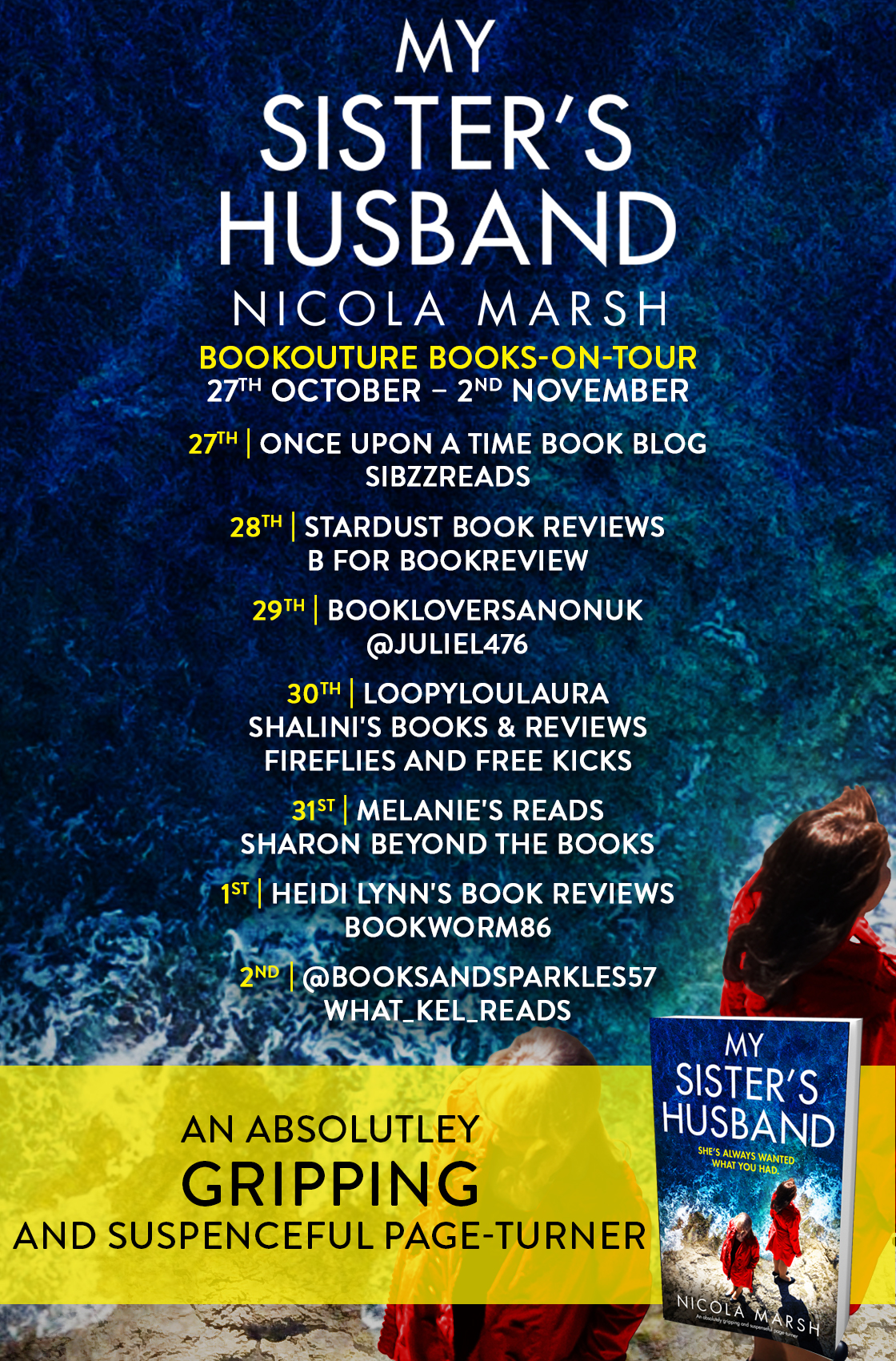 My Sister's Husband blog tour banner