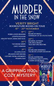 Murder in the Snow blog tour banner