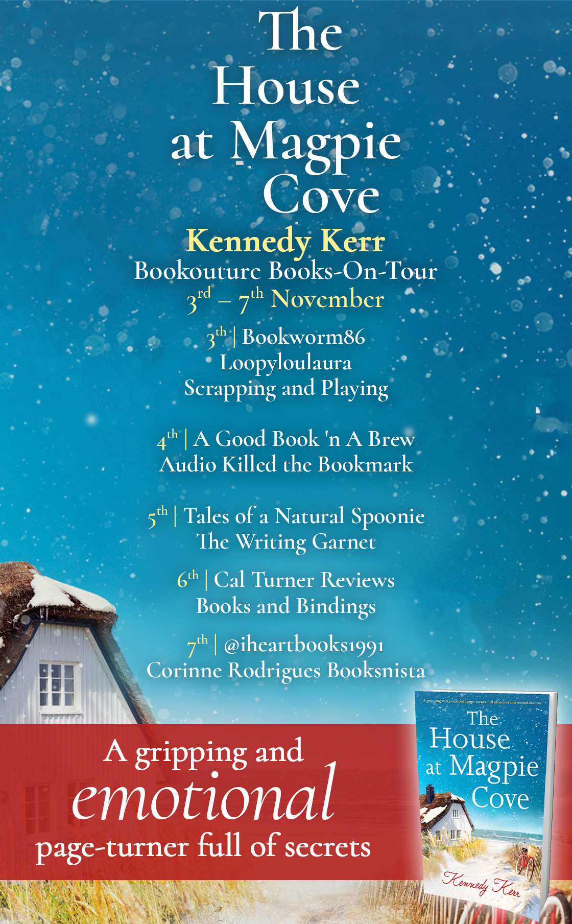The House at Magpie Cove blog tour banner