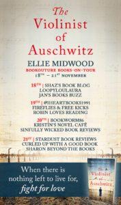 The Violinist of Auschwitz blog tour banner
