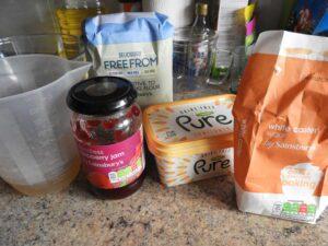 gluten free vegan jam sponge pudding ingredients