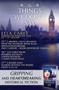 The Things We Don't Say blog tour banner