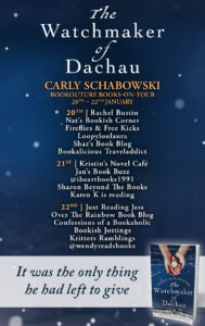 The Watchmaker of Dachau blog tour banner