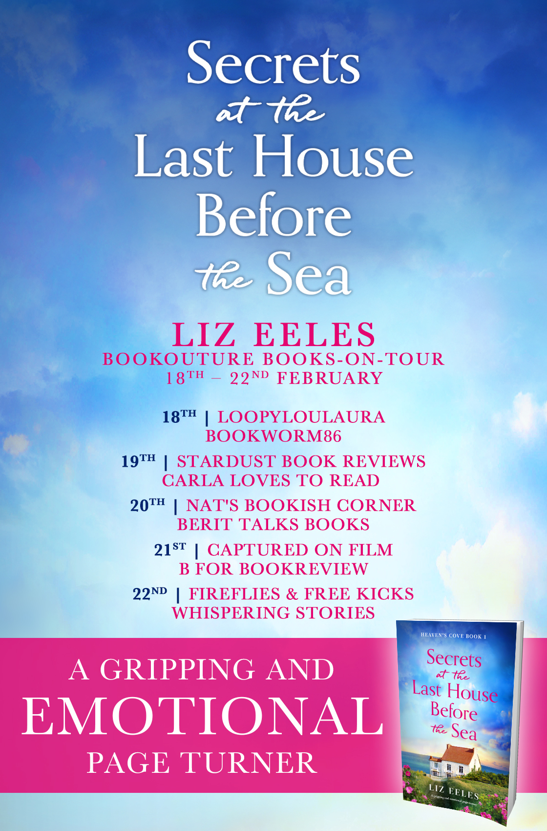 Secrets at the Last House Before the Sea blog tour banner