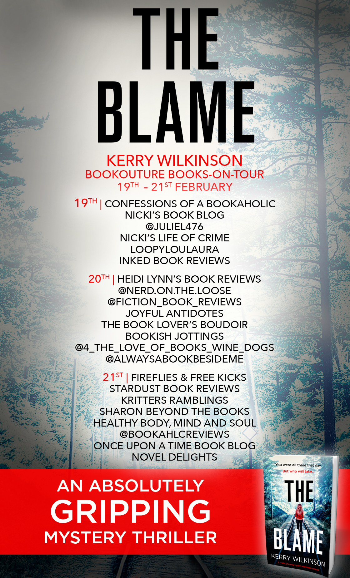 The Blame blog tour banner