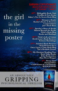 The Girl in the Missing Poster blog tour banner