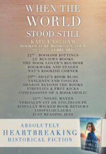 When The World Stood Still blog tour banner