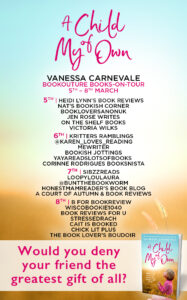 A Child Of My Own blog tour banner
