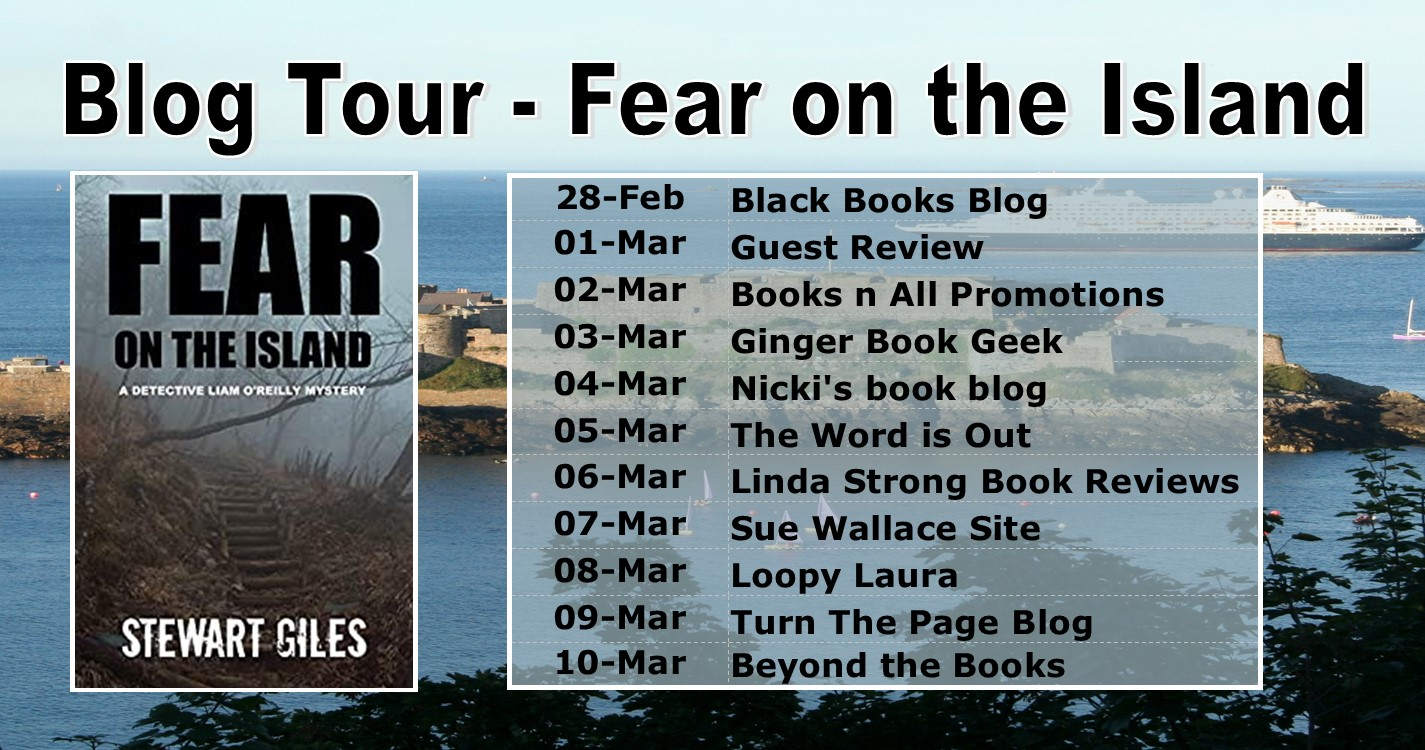 Fear on the Island blog tour banner