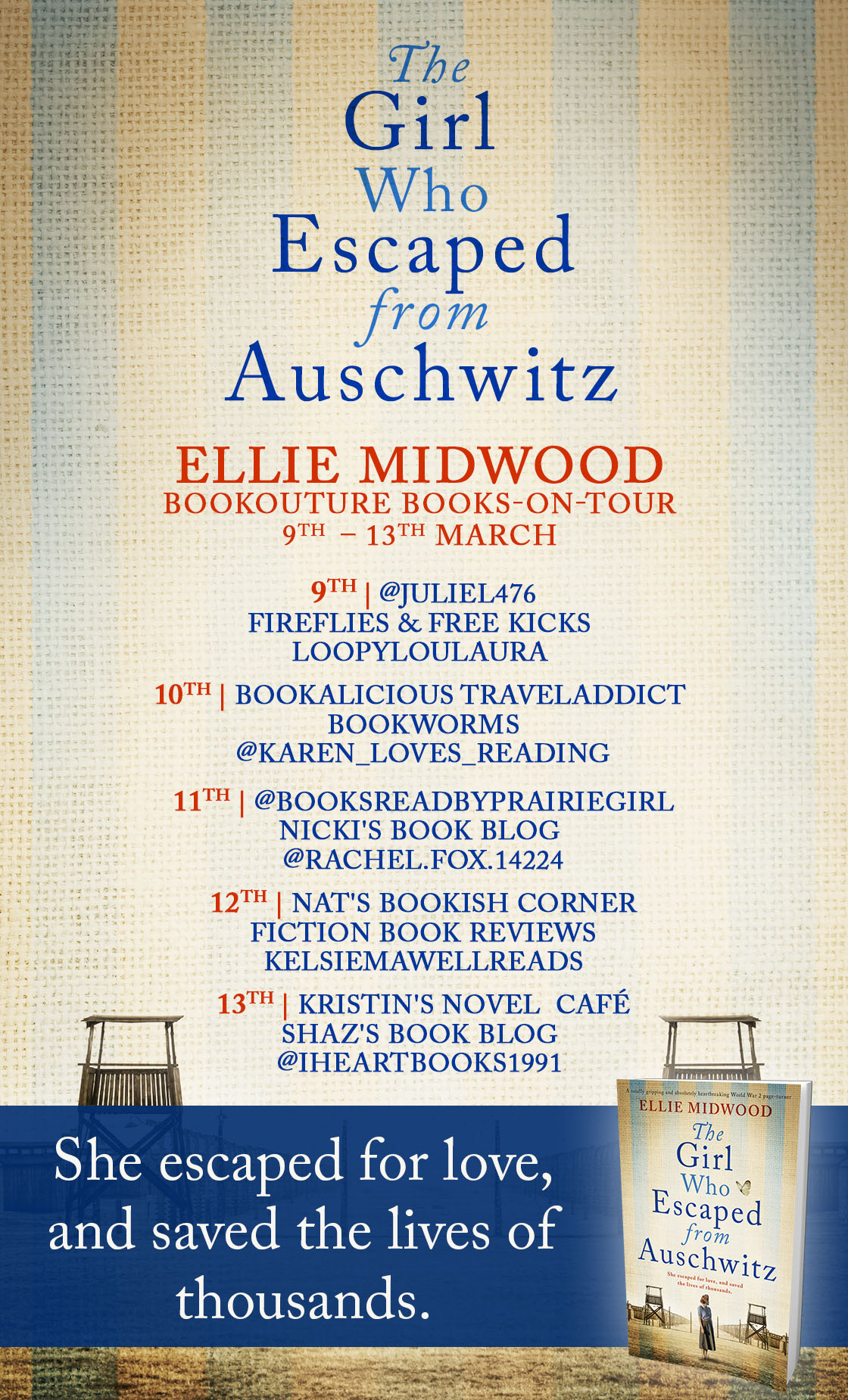 The Girl Who Escaped From Auschwitz blog tour banner