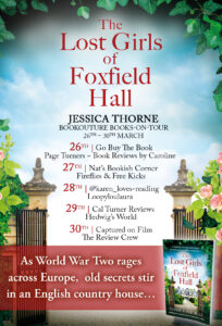 The Lost Girls Of Foxfield Hall blog tour banner