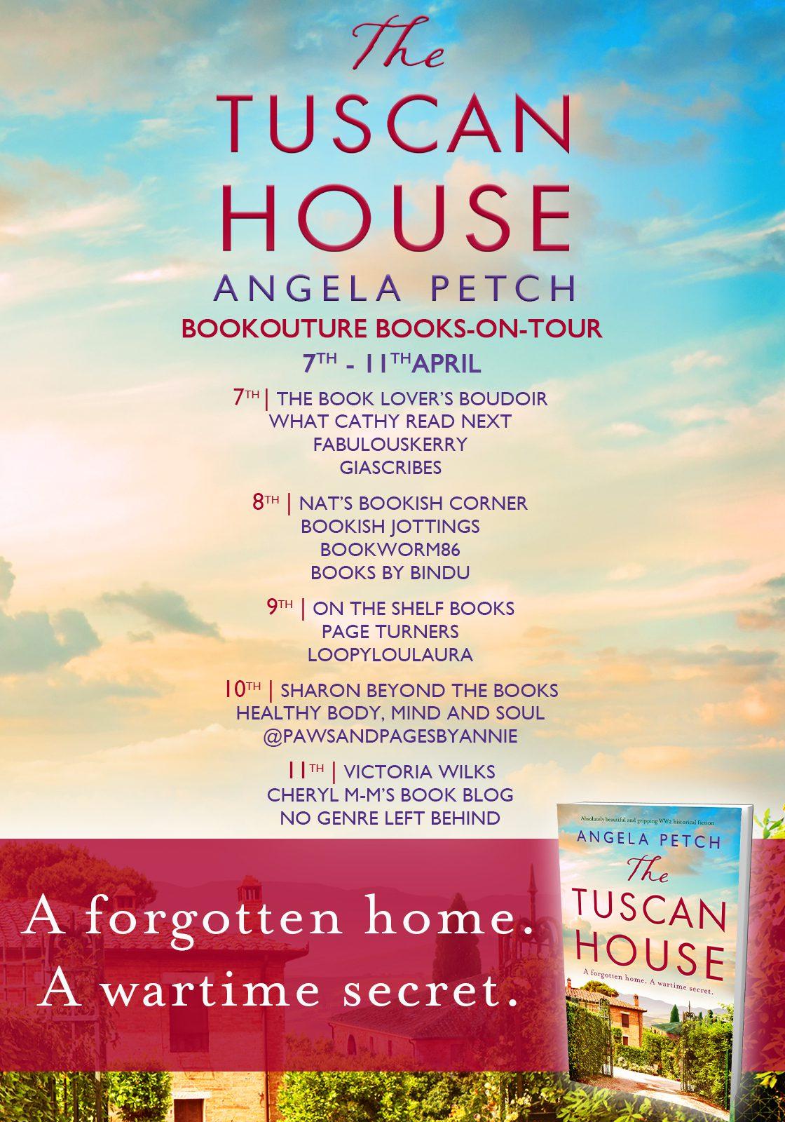 The Tuscan House blog tour banner