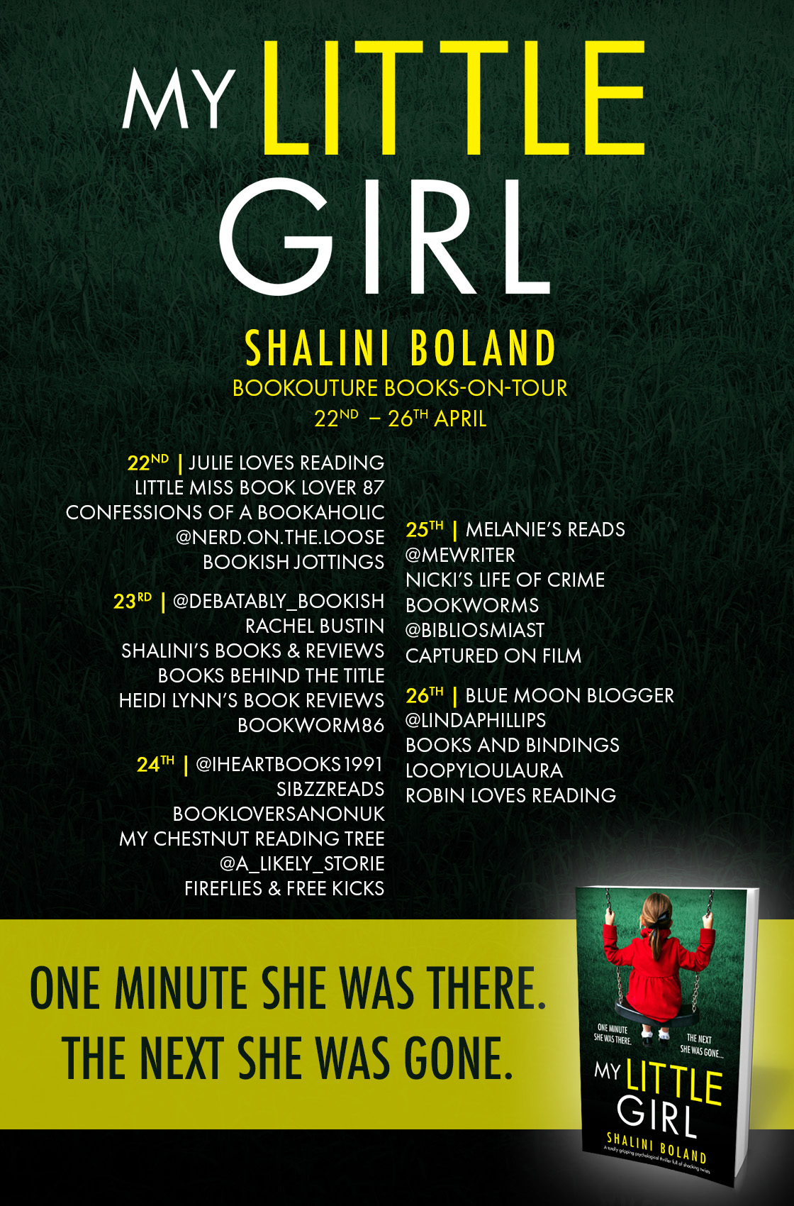 My Little Girl blog tour banner
