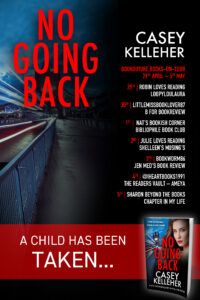 No Going Back blog tour banner