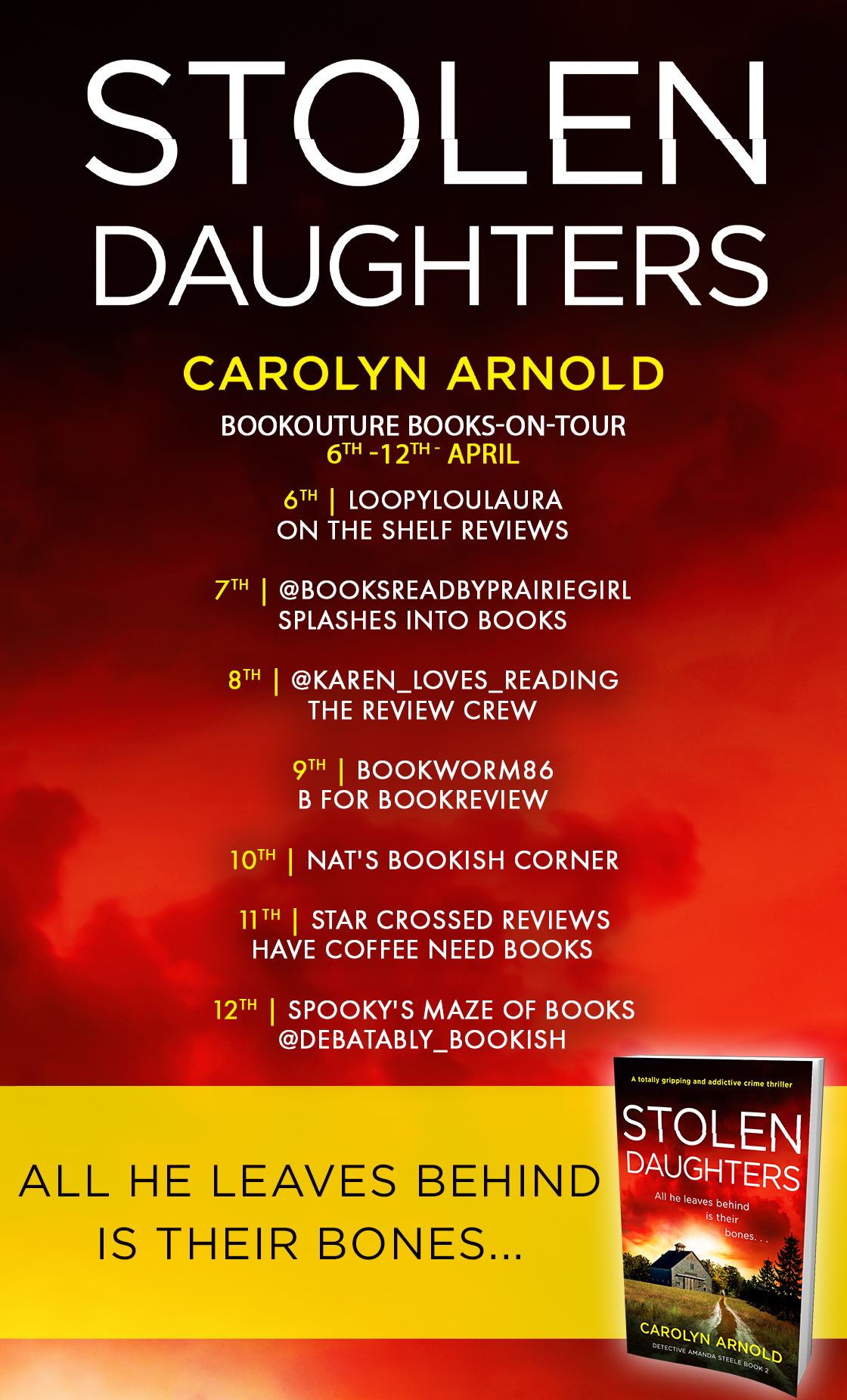 Stolen Daughters blog tour banner