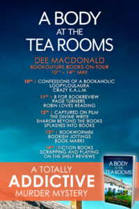 A Body At The Tea Rooms blog tour banner