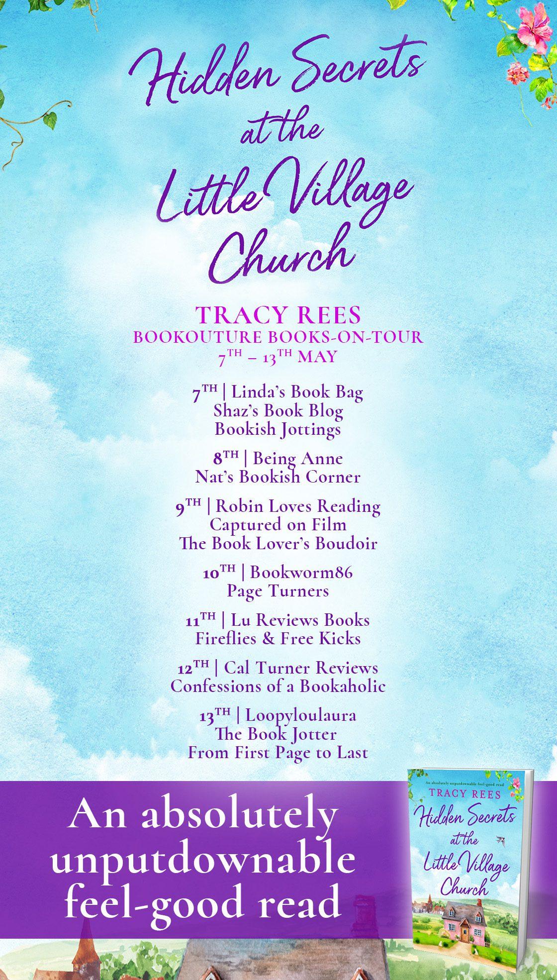 Hidden Secrets at the Little Village Church blog tour banner